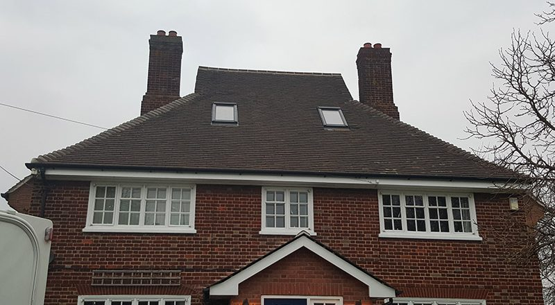 Plain tile reroof and Slate garage at Chelmsford, Essex