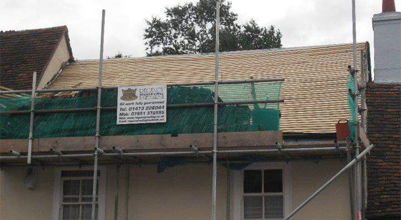 Peg tile roof in Hadleigh, Suffolk