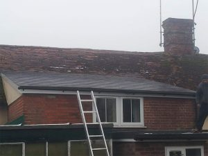 Slate Roof At Earl Stonham, Suffolk